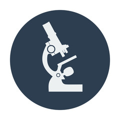 Single flat microscope icon.