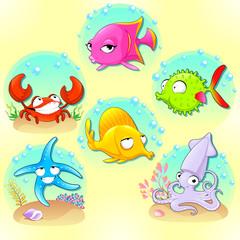 Funny sea animals.