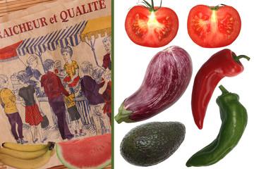 Au Marché : Fruits et Légumes