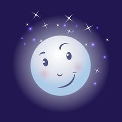 moon sky stars