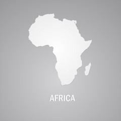 Africa, African Continent Gray