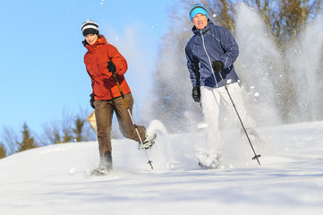 Schneeschuh-Spass zu zweit