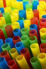 colourful drinking straws portrait version