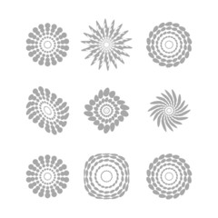 White abstract circles with drop shadow background art vector