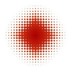 Störer aus roten Punkten