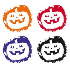 Set Halloween grunge