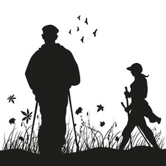 Nordic Walking Silhouette