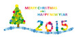 Merry Christmas and Happy New Year 2015 illustration
