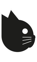 Katze Kopf Profil