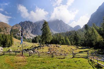 Berglandschaft in den Sarntaler Alpen in Südtirol