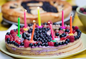 homemade birthday pie