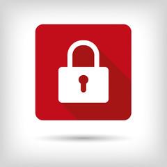 Closed padlock. App