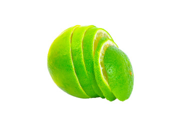 Geschnittene Limette