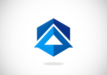 building abstract polygon vector logo