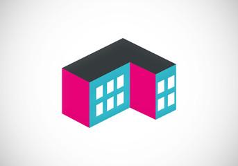 building apartment abstract vector logo