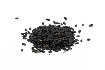 seeds on the white background