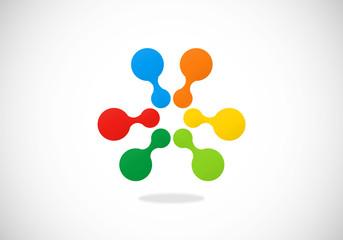 circle dot abstract vector logo