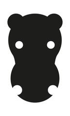 Nilpferd Kopf Frontal