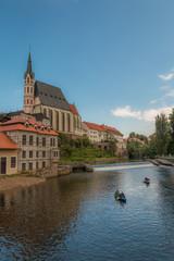 Cesky Krumlov Church and River