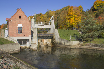 The historic, small hydro power plant
