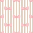 Tile vector pattern with strips and bows