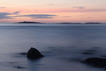 tramonto sul mare isole farne scozia