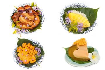Variety of thai dessert