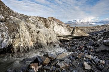 Melting Arctic glacier - global warming