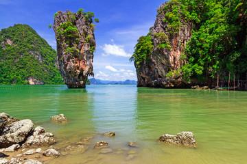 Ko Tapu rock on James Bond Island, Phang Nga Bay, Thailand
