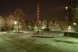 canvas print picture - Marktplatz im Schnee