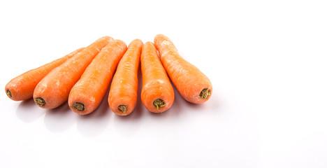 Carrot over white background