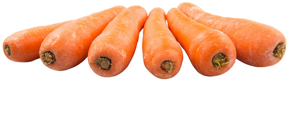 Carrot over white background