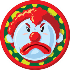 unhappy clown Icon