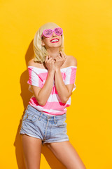 Happiness through pink glasses