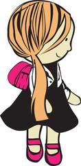 girl with school bag