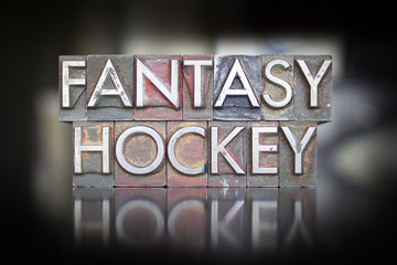 Fantasy Hockey Letterpress