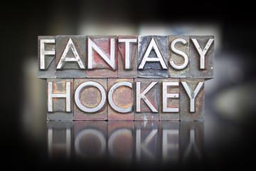 Fantasy Hockey Letterpress