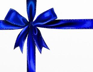 fiocco blu con stelle argento