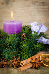 adventsdekoration zum ersten advent