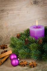 kerze zum ersten advent