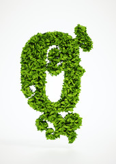Ecology letter Q symbol with white background