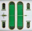 canvas print picture - Grüne Türen
