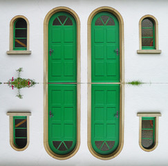 Grüne Türen