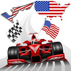 Formula 1 Race Car GP Austin USA