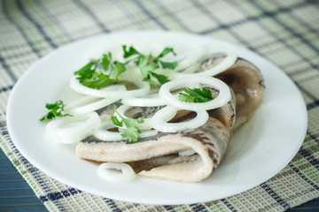 salted herring with onions