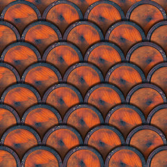 Grunge Metal Circles Background - Wine Barrels