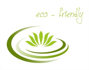 water lily , Buddha, Eco friendly business logo design
