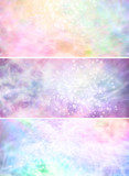 Fototapety Misty sparkling pastel colored background banners x 3
