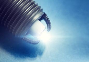 Spark plug closeup