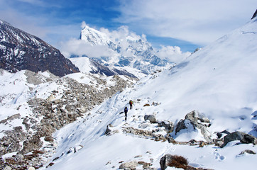 Ngozumba Glacier, Sagarmatha National Park, Nepal,
